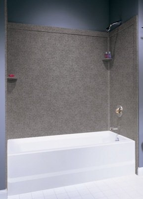 Superieur Swanstone SSIT 60 3 126 Cloud Bone 60u0026quot; 3 Piece Tub Wall