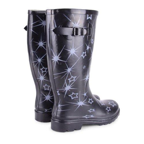 Footwear Sensation - Botas de agua de sintético mujer, color multicolor, talla 40