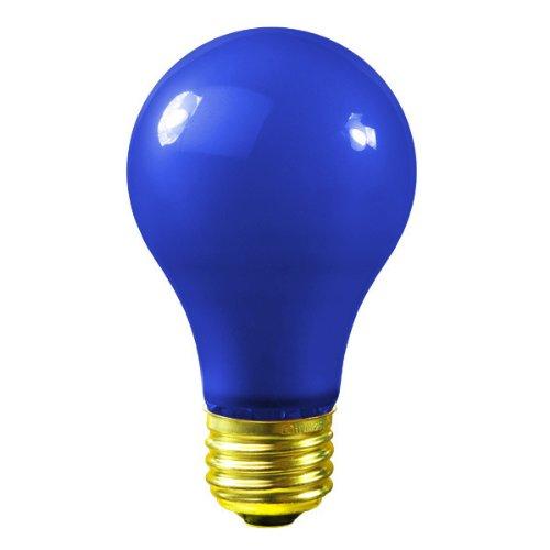 (Satco S6092 - 25 Watt Light Bulb - Opaque Blue - A19 - 130 Volt - 1,000 Life Hours - Party Light Bulb)