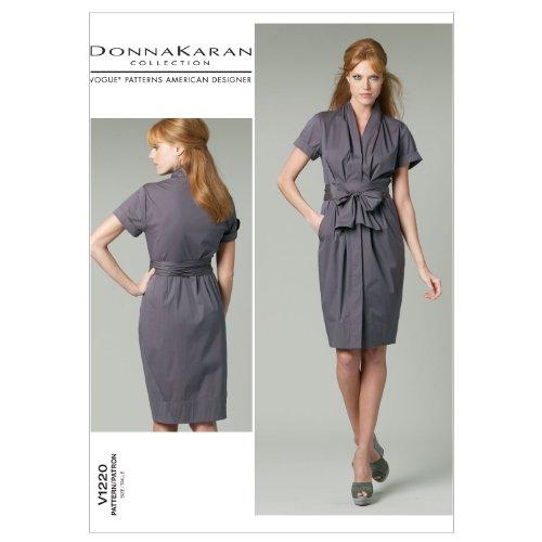 Vogue Patterns V1220 Misses' Dress and Belt, Size FF (16-18-20-22)