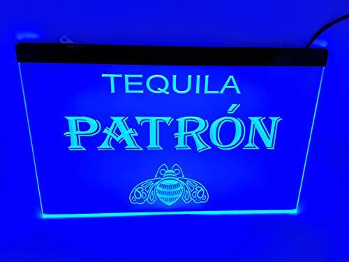 blue tequila patron Bar Pub Led Light Sign (Light Patron Tequila)
