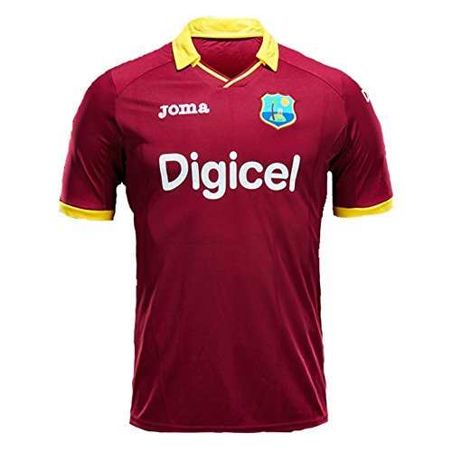 (JOMA West Indies ODI/T20 Cricket Jersey Short Sleeve, Small)