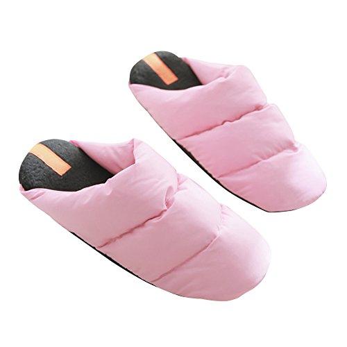 Hevinle Impermeabili Lavabili Termici Donne Pantofole Rosa