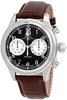 Ball Trainmaster Cannonball Chronograph Automatic Black Dial Men's Watch