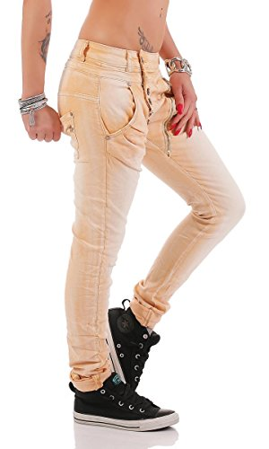 Pastel fonc empire bleu Orange Femme Jeans 42 bleu Taille Fashion4Young L qxAS7S