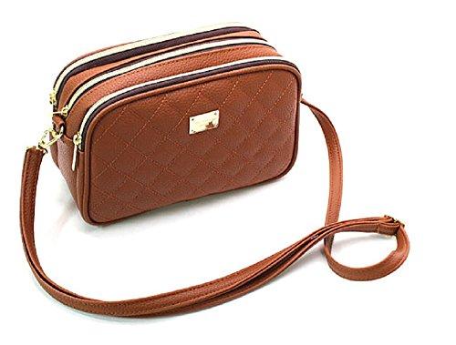Three Pockets Quilting Cross Handbag - Miu Bag Miu Vintage