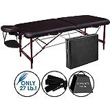 "Master Massage 28"" Zephyr Lightweight Aluminum Portable Massage Table In Black, 1 Count"