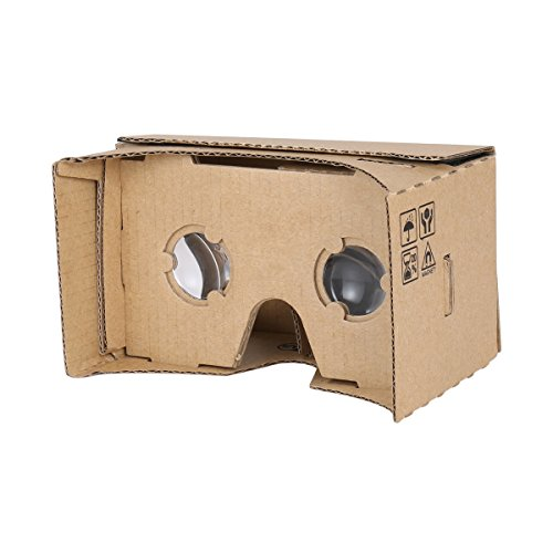 Google Cardboard VR by IHUAQI 3D Glasses Virtual Reality with 25mm Optical Lens 45mm Focus