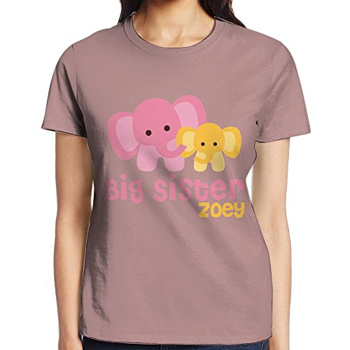 Bnm Elephant Big Sister Round Collar Short-Sleeve T Shirts For Women Young -