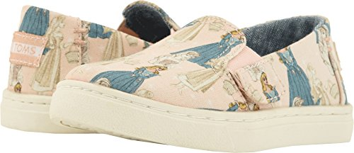 TOMS Kids Baby Girl's Luca Disney¿ Princesses (Infant/Toddler/Little Kid) Pink Sleeping Beauty Printed Canvas 6 M US Toddler -