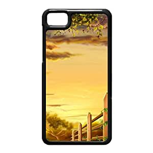 Black Berry Z10 Case,Fence Illustration High Definition Wonderful Design Cover With Hign Quality Hard Plastic Protection Case