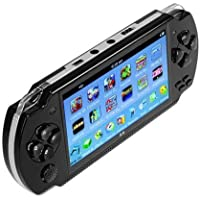 X6 Game Console 4.3 Inch Screen 8GB Handheld Game Player, Built-in 500 Games