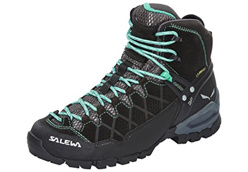Salewa Women's Alp Trainer Mid GTX Black Out/Agata 9 B (Salewa Alp Trainer Mid Gtx Hiking Boot)