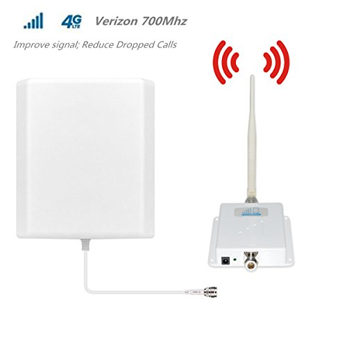 Cell Phone Signal Booster 4G Lte Verizon Cell signal booster HJCINTL Band 13 700Mhz Home Mobile Phone Signal Amplifier Repeater (Panel/whip)
