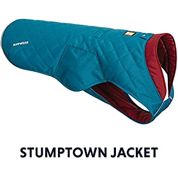 RUFFWEAR - Stumptown Insulated, Reflective Cold Weather Jacket for Dogs, Metolius Blue, Medium
