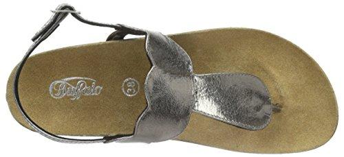 Buffalo 5197-a Goat Foil Damen Zehentrenner Grau (PEWTER 01)