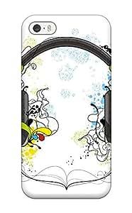 Iphone 5/5s WKHUumX6038vOVPa Headphones Tpu Silicone Gel Case Cover. Fits Iphone 5/5s