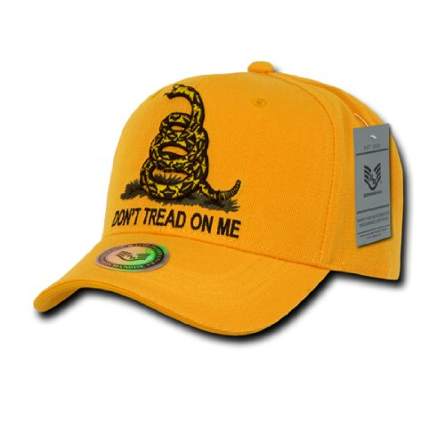 Rapid Dom Dont Tread On Me Gadsden Flag Baseball Caps A02 Gold One Size