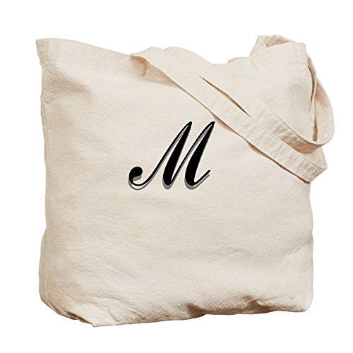 CafePress–Lettera M Monogram–Borsa di tela naturale, panno borsa per la spesa
