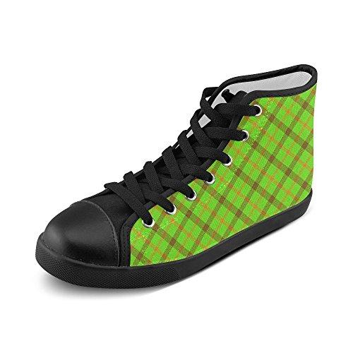 Artsadd Tami Kaye Plaid Haut Haut Chaussures De Toile Pour Les Femmes (model002)