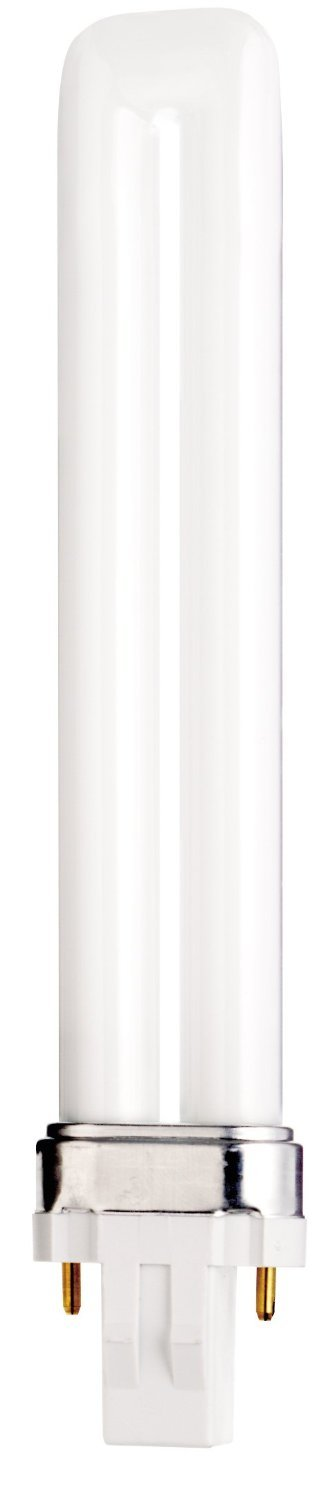 (Case of 25) Satco S8310 - CFS13W/827 13-Watt 2700K Single Tube 2-Pin GX23 Base T4 Compact Fluorescent Lamp