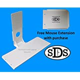 SDS SDS Premium Aluminum Mini Keyboard Mounting Shelf, White, Light Weight, Mounts Using VESA Pattern On Monitors