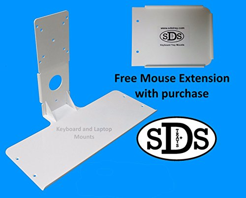 SDS iMount 2.0 Aluminum Mini Keyboard Mounting Attachment with mouse extension Manufactured in Michigan by SDS