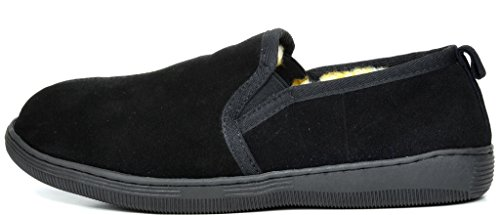 Slippers Loafer Men's Loafers DREAM PAIRS Shoes Fur Black 02 Suede YAqBgSxw