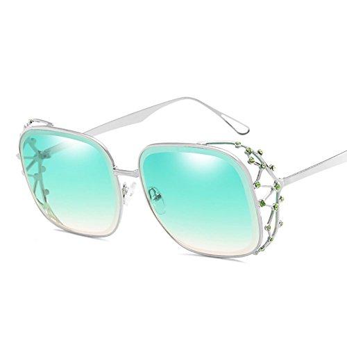 De Mujeres Wayfarer Gafas Brown De Las Metal Ocean Piece Personalidad Gafas De De Gafas De Sol Sol Green Gafas La UV400 GAOJUAN UV Sol De De Sol Moda Resistencia Punk xUwSqXHIf
