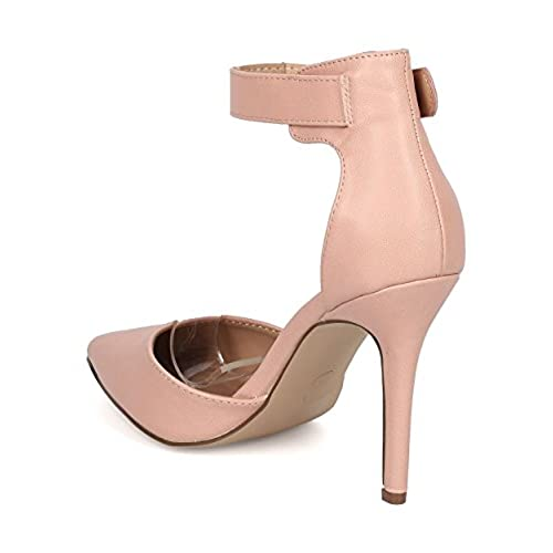 e51c97857b9a Breckelles Women Leatherette Open Toe Ankle Strap Single Band Stiletto  Sandal well-wreapped