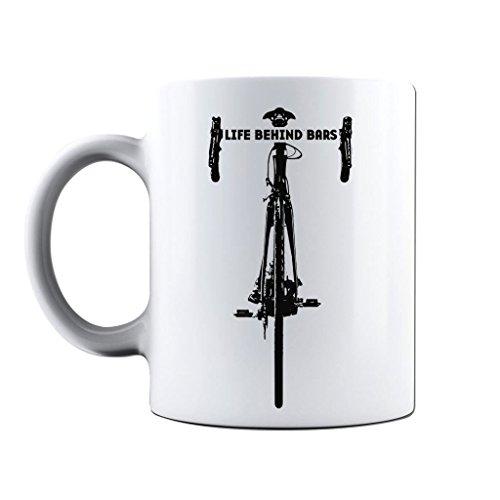Printed Mug and Coffee Cups Life Behind Bars Road Cycling Funny Mugs Novelty Gift ()