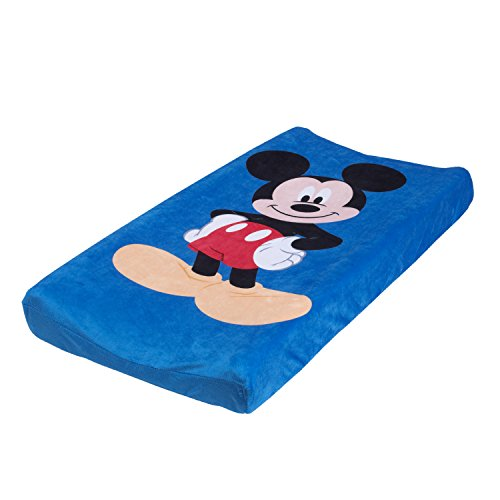 Dinsey Mickey Changing Pad Cover, Blue, Red, Black