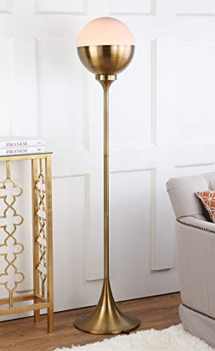 Safavieh FLL4006A Lighting Collection Renato 63.5″ Brass Gold Floor Lamp