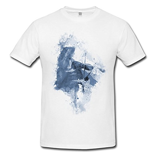 Violine Player Herren T- Shirt , Stylisch aus Paul Sinus Aquarell Cyan