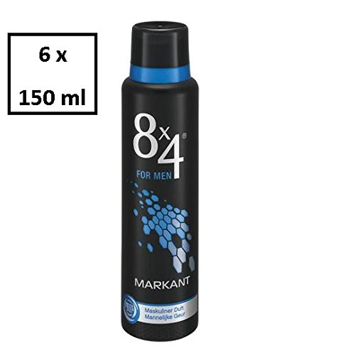 8x4 DeoSpray Men Markant, 6er Pack (6 x 150 ml)