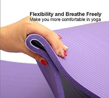 JiherBeauty Workout Matt for Home Yoga 10mm Extra Thick High Density Anti-Tear Exercise Yoga Mat Pilates /& Floor Workouts Non Slip Yoga Mat