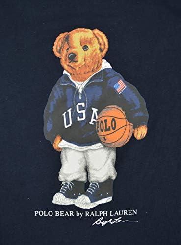 POLO RALPH LAUREN Men's Basketball Bear T-Shirt, Aviator Navy