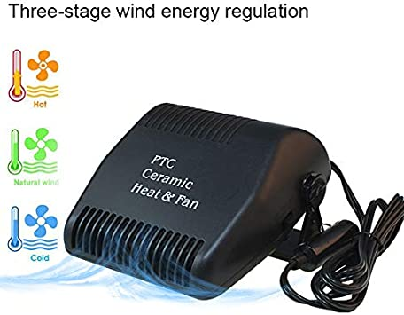 12V 150W SUV Car Windshield Heater Hot Cool Fan Demister Defroster 2 in 1 Modes