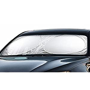 "Cartman Windshield Sun Shade 63"" x 34"", Cool FREE - A Powerful UV Ray Deflector, Car Sunshade To Keep Your Vehicle Cool And Damage Free, Snow Shade"