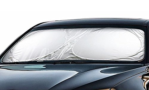 Cartman Windshield Sun Shade 63' x 34', Cool FREE - A Powerful UV Ray Deflector, Car Sunshade To Keep Your Vehicle Cool And Damage Free