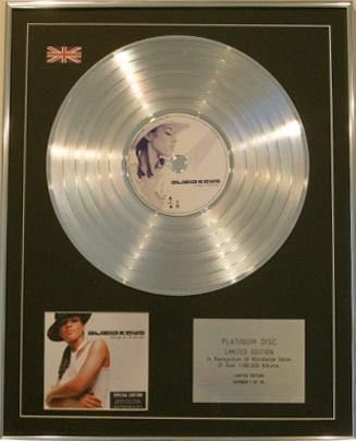 Century Music Awards Alicia Keys Ltd EDT CD Platinum Discs in A Minor