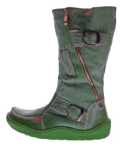 TMA - Botas de Piel Lisa para mujer Verde - verde