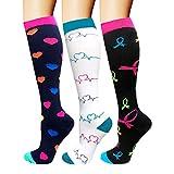 Compression Socks For Men & Women - 1/3/6 Pairs - Best Sports Socks for Running,Climbing,Sports,Flight Travel- 20-25mmHg