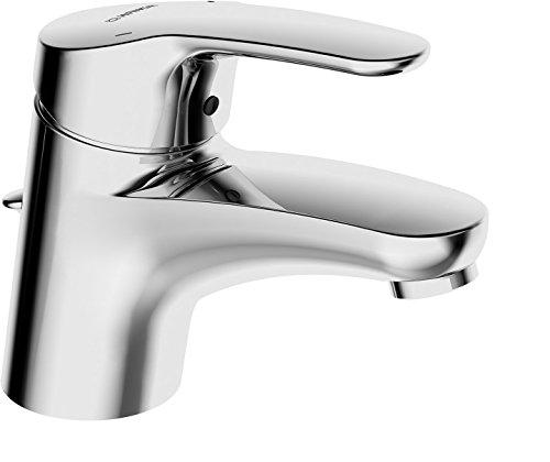 Hansa Waschtisch Einhebelmischer Hansamix mit Garnitur und flexiblem Druckschlauch, verchromt, 01102283