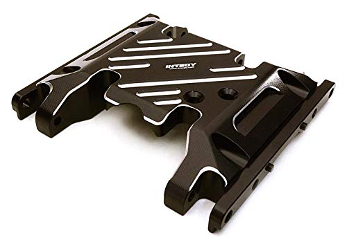 Integy RC Model Hop-ups C27127BLACK Billet Machined Alloy Center Skid Plate for Axial SCX10 II w/LCG Transfer Case (Axial Transfer Case)