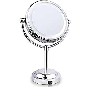 Amazon Com Rusee Double Sided Lighted Makeup Mirror