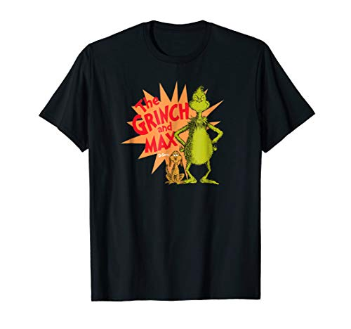 Dr. Seuss Grinch and Max Burst T-shirt -