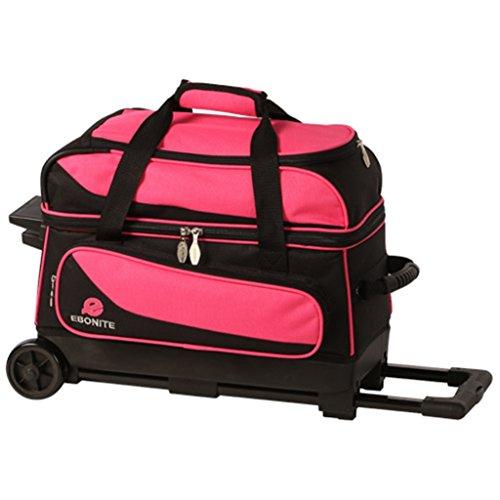 Ebonite Transport Double Roller Bowling Bag- Pink/Black ()