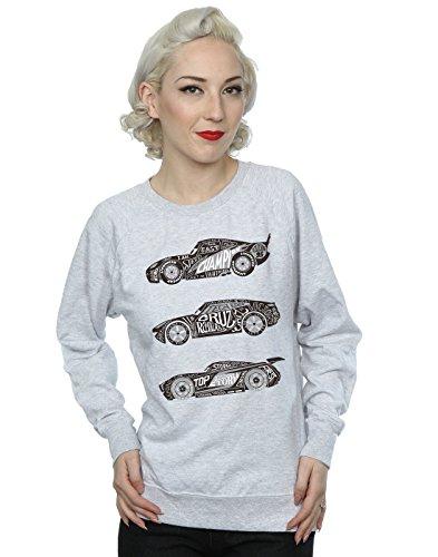 Gris Entrenamiento Camisa Disney De Mujer Cuero Text Cars Racers wxYq8YBa
