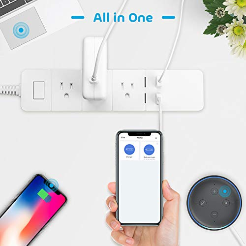 meross Smart Power Strip, Wi-Fi Surge Protector, Compatible with Alexa,  Google Assistant & IFTTT, Remote Control Individually, with 3 Smart AC  Outlets